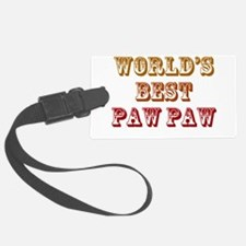 Worlds Best Paw Paw Luggage Tag