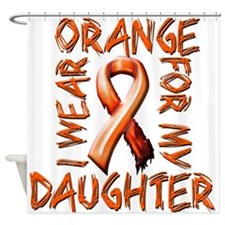 I Wear Orange for my Daughter.png Shower Curtain