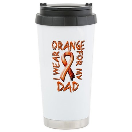 I Wear Orange for my Dad.png Stainless Steel Trave