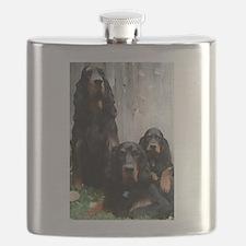 Gordon Setter Generations Painting Flask