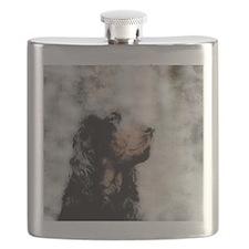 Gordon Setter Grunge Flask