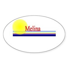Melina Oval Decal