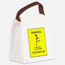 Taekwondo Warning Canvas Lunch Bag