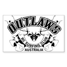 Outlaws RC Surfing Surfer Surf Decal