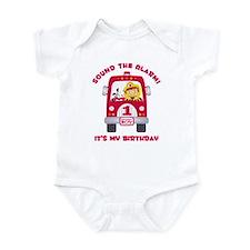 Fire Truck 1st Birthday Boy Infant Bodysuit