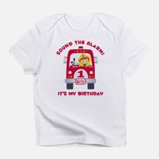 Fire Truck 1st Birthday Boy Infant T-Shirt