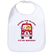 Fire Truck 1st Birthday Boy Bib