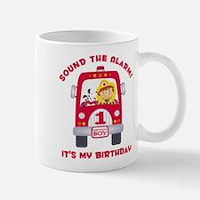Fire Truck 1st Birthday Boy Mug