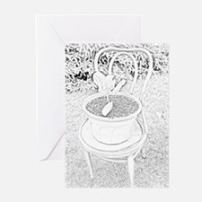 Pot in Chair Greeting Cards (Pk of 10)