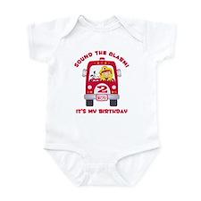 Fire Truck 2nd Birthday Boy Infant Bodysuit