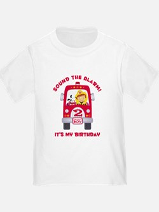 Fire Truck 2nd Birthday Boy T