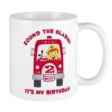Fire Truck 2nd Birthday Boy Mug