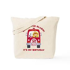 Fire Truck 2nd Birthday Boy Tote Bag