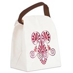Namaste Henna Tattoo in Ruby Canvas Lunch Bag