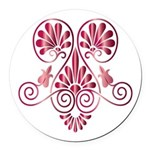 Namaste Henna Tattoo in Ruby Round Car Magnet