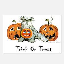 Schnauzer Halloween Pumpkins Postcards (Package of