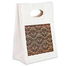 Haunted Victorian Wallpaper Canvas Lunch Tote