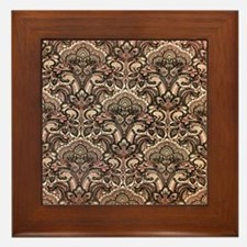 Haunted Victorian Wallpaper Framed Tile