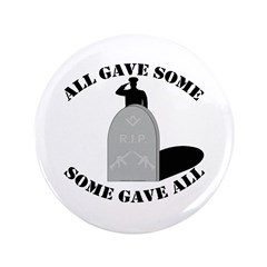"""Our Brave Brother Masons 3.5"""" Button"""