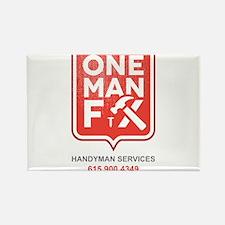 One Man Fix - Handyman Services Rectangle Magnet