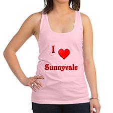 I Love Sunnyvale #21 Racerback Tank Top