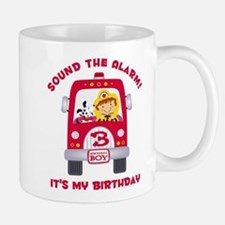 Fire Truck 3rd Birthday Boy Mug