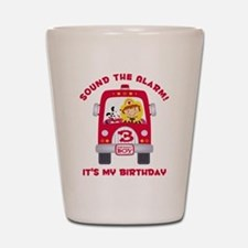 Fire Truck 3rd Birthday Boy Shot Glass
