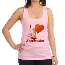 I Love Needlepoint Racerback Tank Top