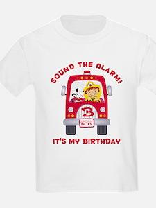 Fire Truck 3rd Birthday Boy T-Shirt