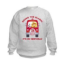 Fire Truck 3rd Birthday Boy Sweatshirt