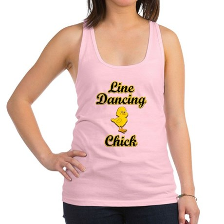 Line Dancing Chick Racerback Tank Top
