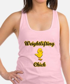 Weightlifting Chick Racerback Tank Top
