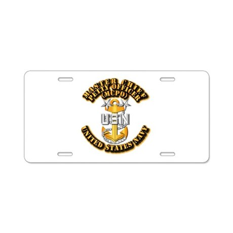Navy - CPO - MCPO Aluminum License Plate