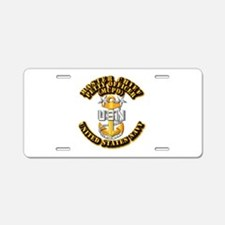 Navy - CPO - MCPO Aluminum License Plate