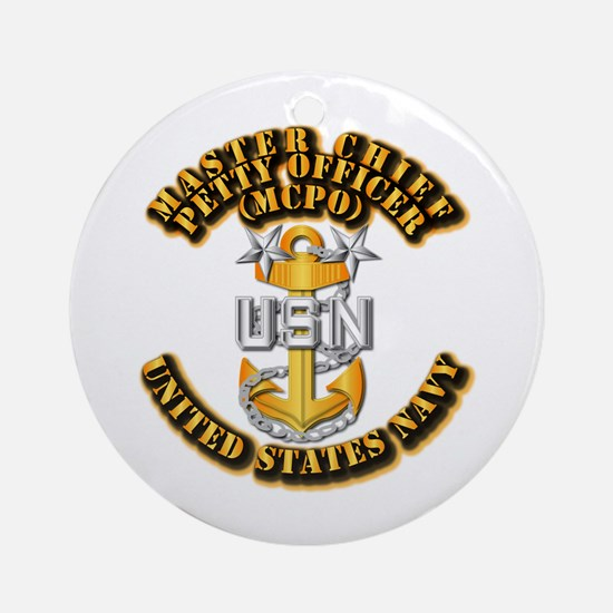 Navy - CPO - MCPO Ornament (Round)