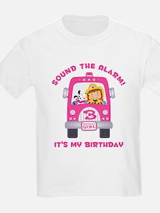 Fire Truck 3rd Birthday Girl T-Shirt