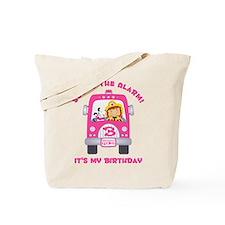 Fire Truck 3rd Birthday Girl Tote Bag
