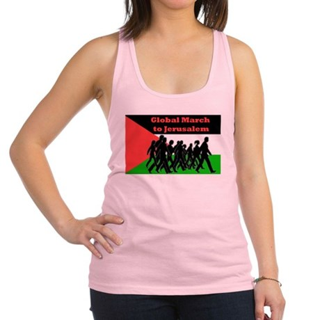 Global March to Jerusalem Racerback Tank Top