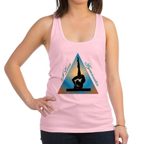 I Love Gymnastics Triangle #5 Racerback Tank Top