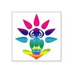 "Rainbow Yogi Square Sticker 3"" x 3"""