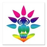 "Rainbow Yogi Square Car Magnet 3"" x 3"""