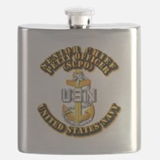 Navy - CPO - SCPO Flask