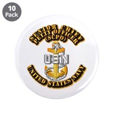 "Navy - CPO - SCPO 3.5"" Button (10 pack)"