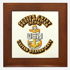 Navy - CPO - SCPO Framed Tile