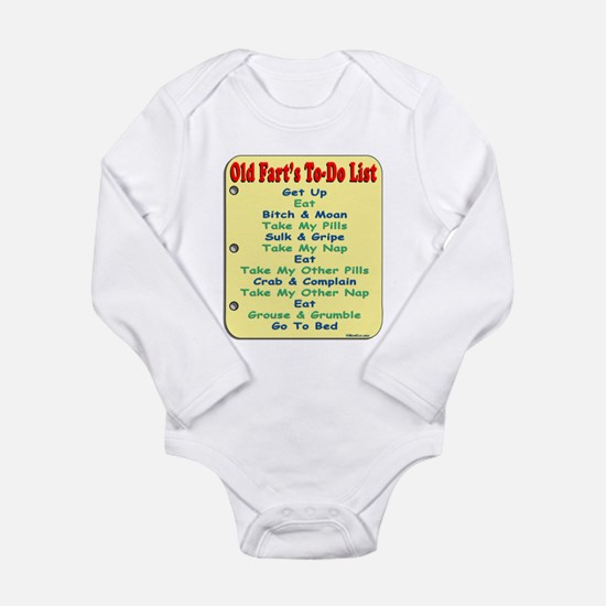 Old Fart To-Do List (s/yel) Long Sleeve Infant Bod
