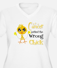 Childhood Cancer Picked The Wrong Chick T-Shirt