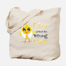 Childhood Cancer Picked The Wrong Chick Tote Bag