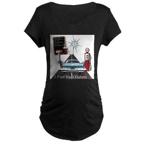 I Fuel Up Gluten Free Maternity Dark T-Shirt