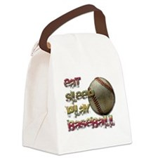 Eat sleep base Canvas Lunch Bag