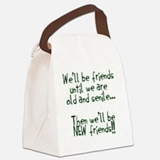 Well be friends png.png Canvas Lunch Bag